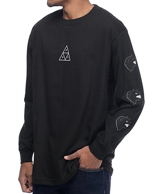 HUF Black Wolf Black Long Sleeve T-Shirt at Zumiez : PDP