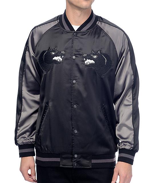 HUF Blackwolf Black Souvenir Jacket