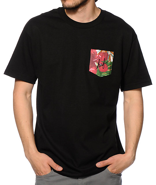 HUF Blossom Script Pocket T-Shirt
