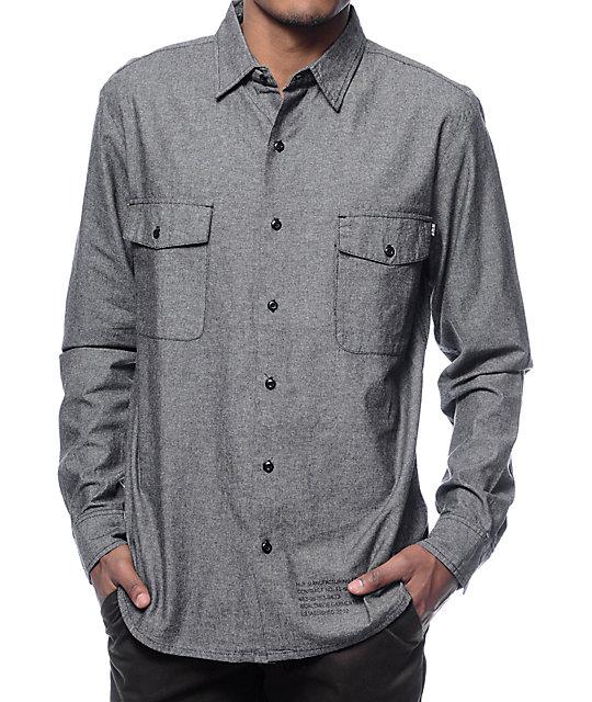 HUF Chambray Button Up Long Sleeve Shirt