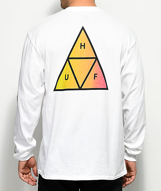 HUF Cheetah Triangle White Long Sleeve T-Shirt