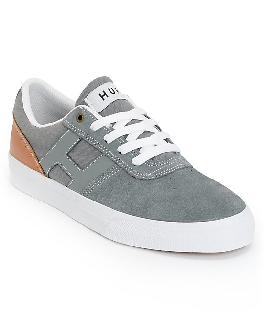 HUF Choice Castlerock & Tan suede Skate Shoes