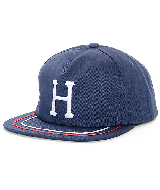 HUF Classic H Navy Snapback Hat