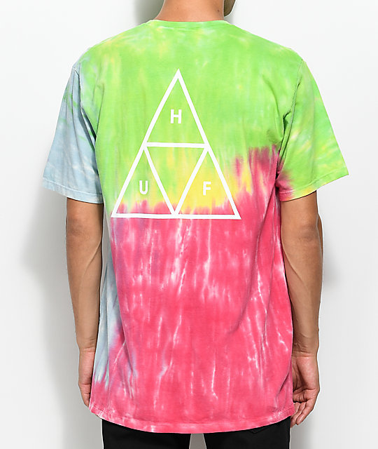 HUF Drip Dye Rainbow T-Shirt