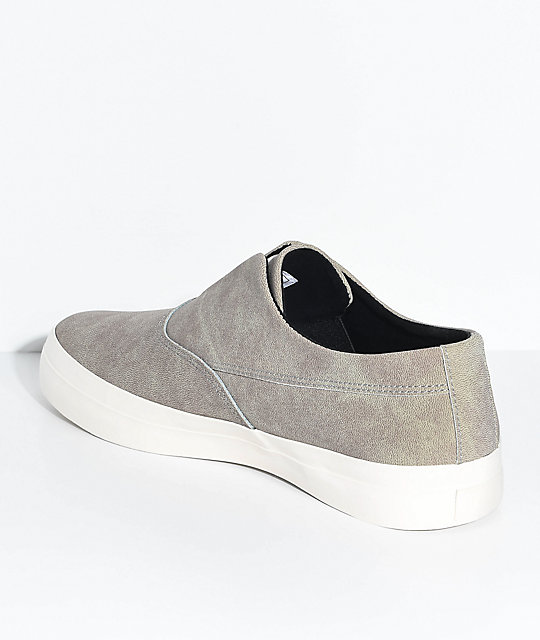 HUF Dylan Slip-On Fog Leather Skate Shoes