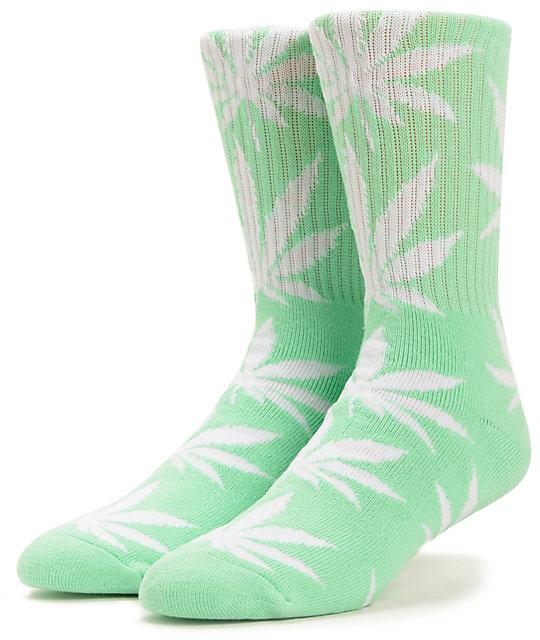 HUF Easter Plantlife Mint Weed Print Crew Socks