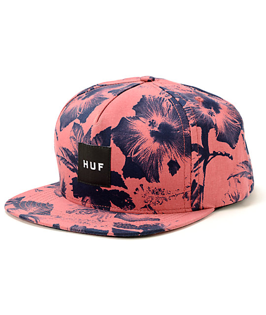 Huf Snapback Floral Huf Floral Box Logo Snapback