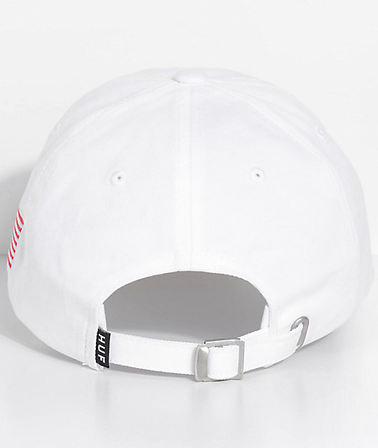 HUF Fuck It White Strapback Hat