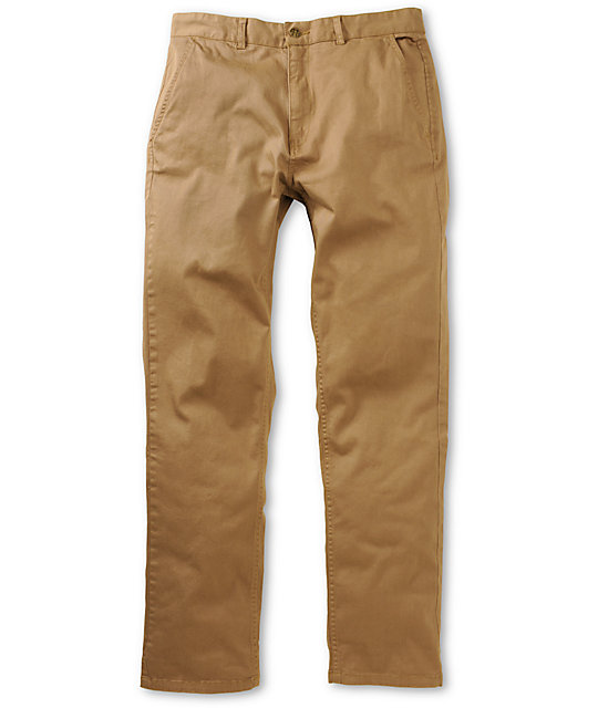 HUF Fulton British Khaki Regular Fit Chino Pants at Zumiez : PDP