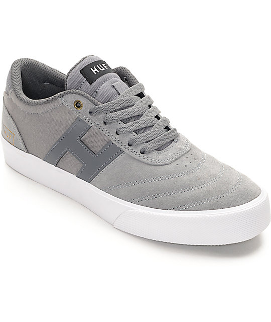 HUF Galaxy Mid Grey & White Skate Shoes