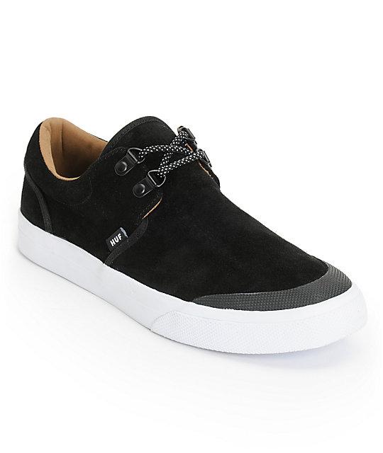 HUF Genuine Jet Black & White Shoes