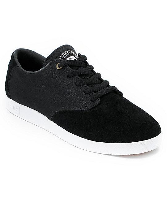 HUF Hufnagel Canvas & Suede Black Skate Shoes