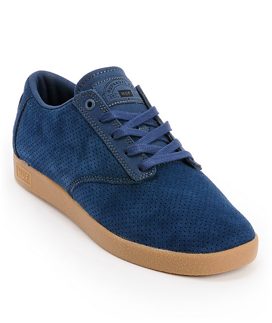 HUF Hufnagel Pro Deep Cobalt Suede Skate Shoes