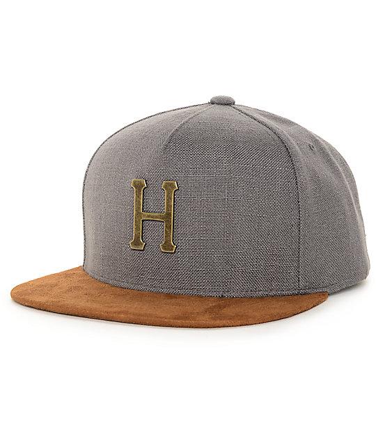 HUF Metal H Smoke Strapback Hat