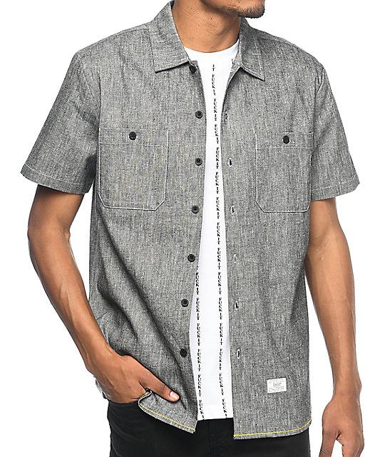 HUF Noah Black Washed Woven Button Up Shirt