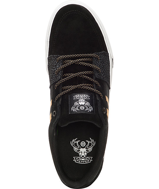 HUF Pepper Pro Black & Elephant Skate Shoes