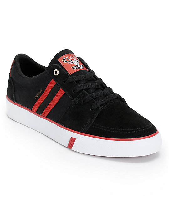 HUF Pepper Pro Black & Lighthouse Red Skate Shoes