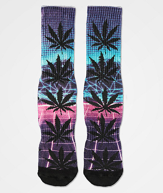 Huf Plantlife Airbrush Purple Crew Socks by Huf