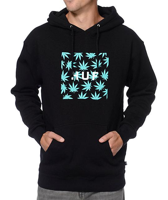 HUF Plantlife Black & Mint Pullover Hoodie