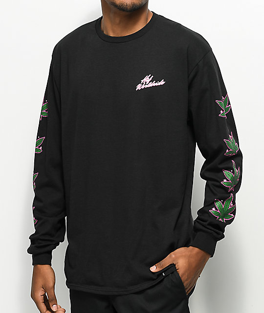 Huf Plantlife Black Long Sleeve T Shirt by Huf