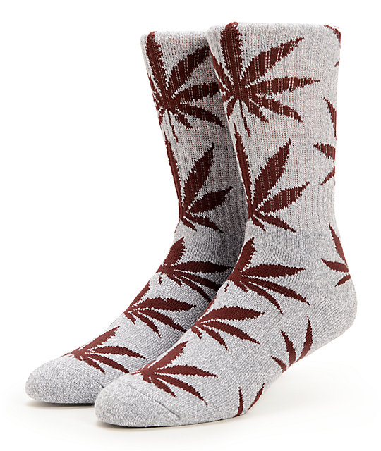 HUF Plantlife Grey & Wine Crew Socks