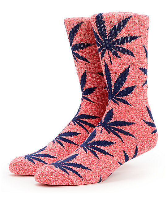 HUF Plantlife Heather Red Crew Socks