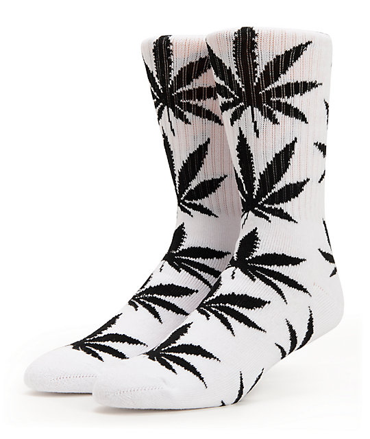 HUF Plantlife White & Black Crew Socks