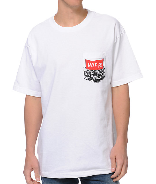 HUF Protest Pocket White T-Shirt