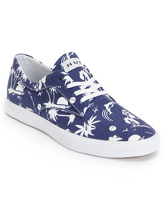 HUF Province Blue Hawaii Canvas Skate Shoes