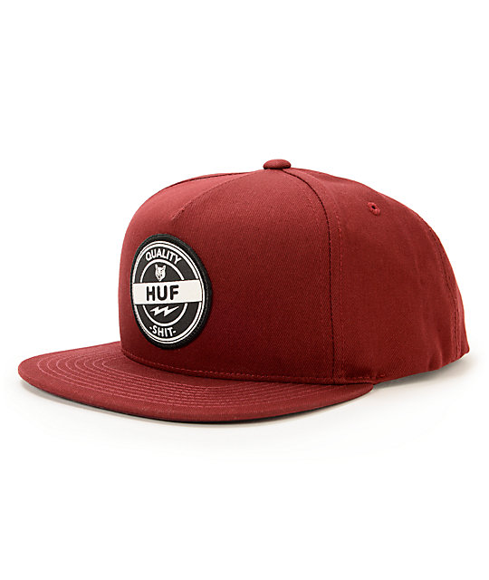 HUF Quality Shit Wine Snapback Hat