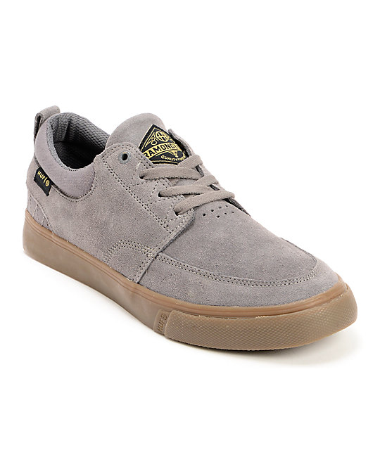 HUF Ramondetta Pro Grey & Gum Suede Skate Shoes