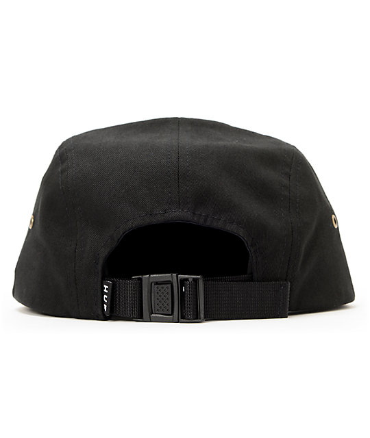 HUF Retro Black 5 Panel Hat