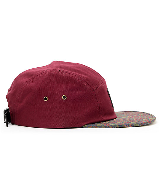 HUF Retro Maroon 5 Panel Hat