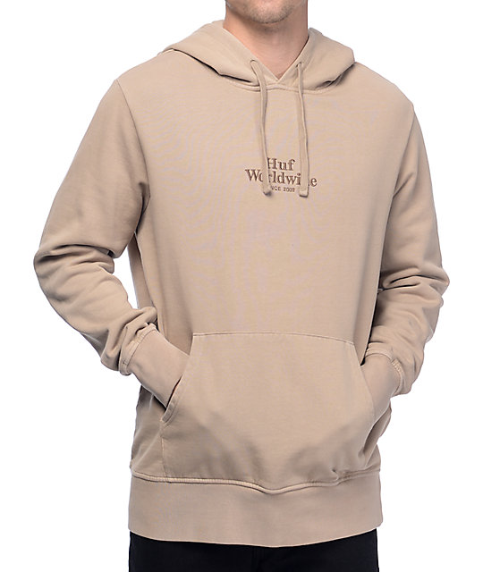 huf rose hand overydyed embroidered hoodie zumiez. Black Bedroom Furniture Sets. Home Design Ideas