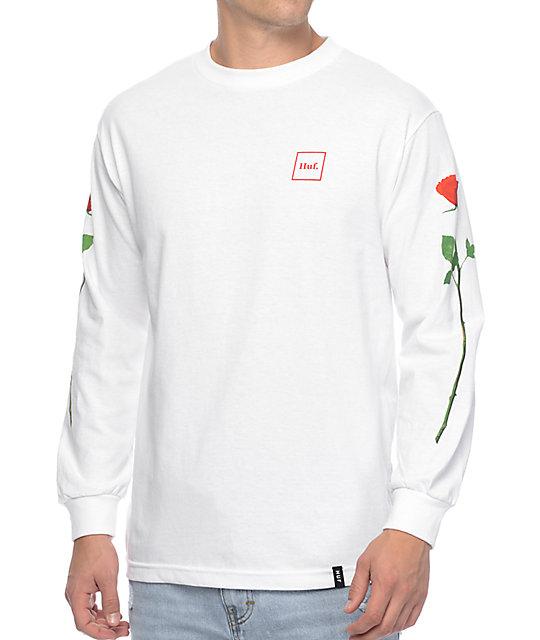 Roses White Long Sleeve T-Shirt