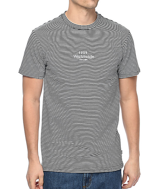 HUF Royale Striped Black & White T-Shirt | Zumiez