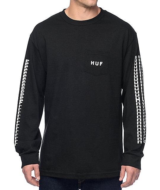 HUF Sante Black Long Sleeve Pocket T-Shirt at Zumiez : PDP