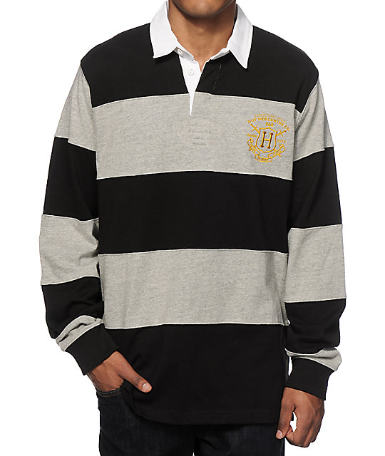 Huf Scholar Rugby Long Sleeve Polo Shirt At Zumiez Pdp