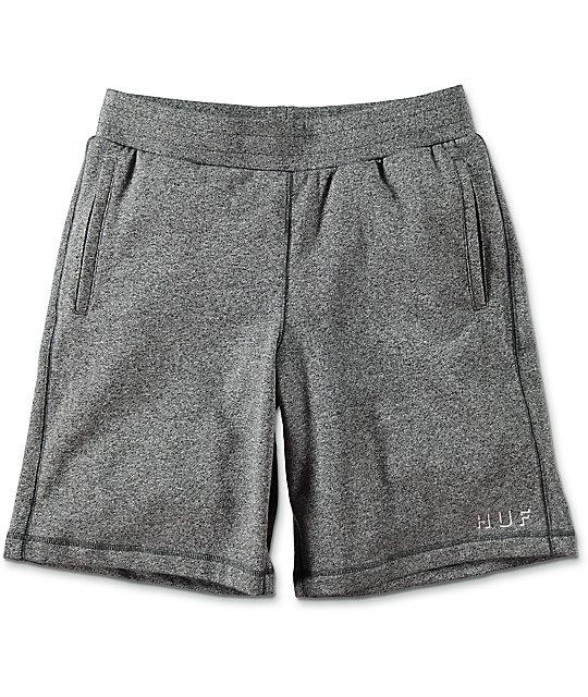 HUF Shadow Fleece Grey Sweat Shorts