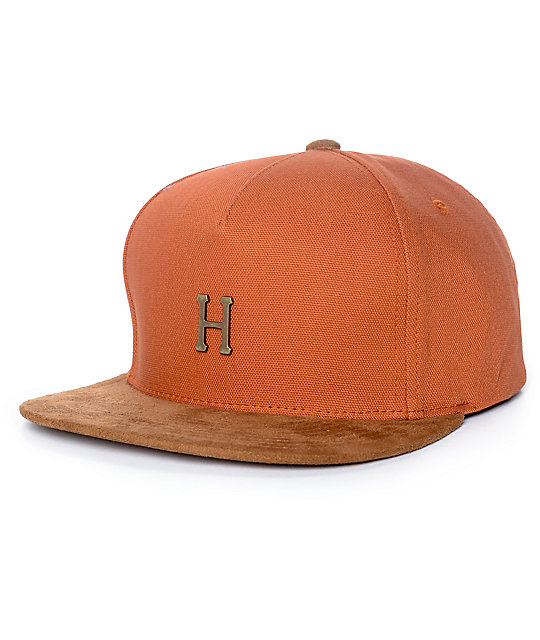 HUF Small Metal H Rust Strapback Hat