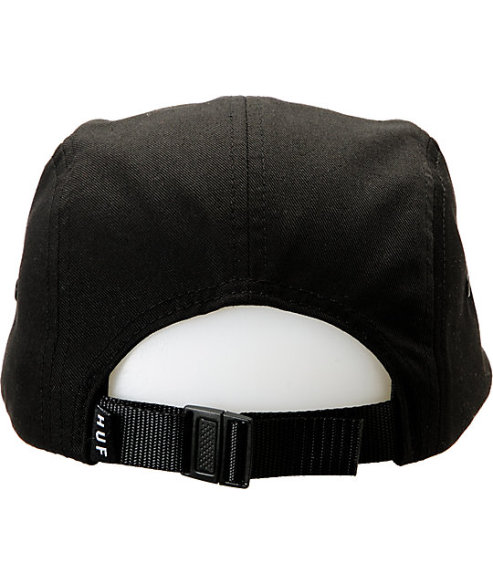 HUF Solid Box Logo Black 5 Panel Hat