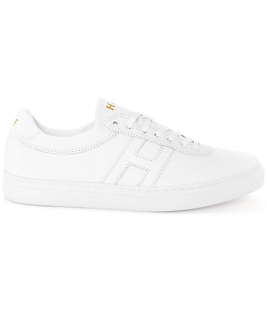 HUF Soto All White Leather Skate Shoes