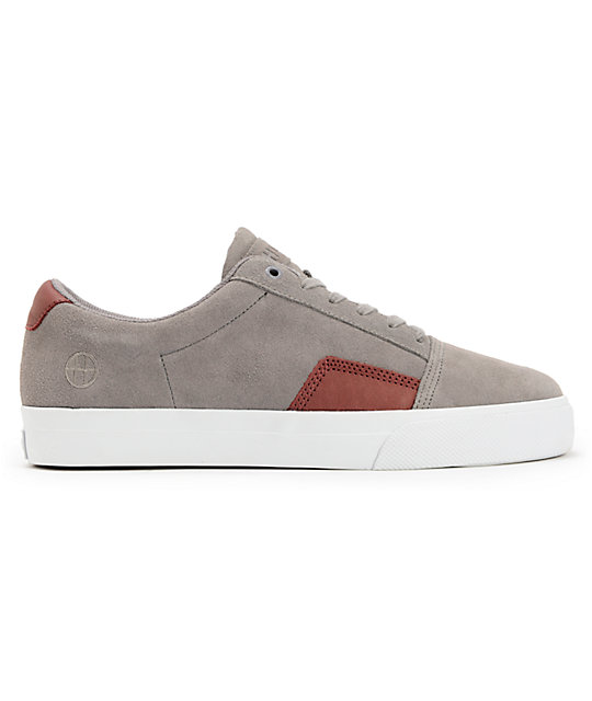 HUF Southern Grey & Wine Skate Shoes
