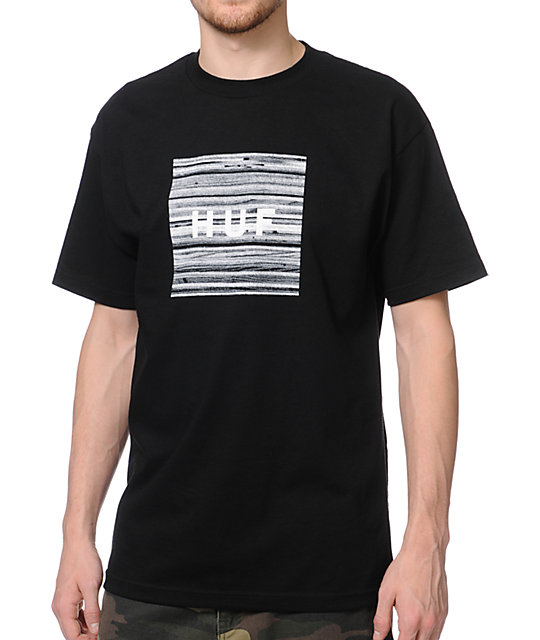 HUF Static Box Logo Black T-Shirt