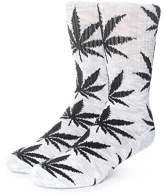 HUF Streaky Plantlife Grey & Black Crew Socks
