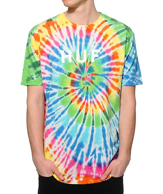 Thrasher t Shirt Tie Dye Huf Tie Dye og Logo t Shirt