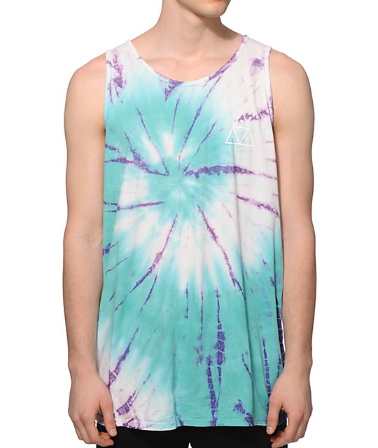 HUF Tie Dye Swirl Triangle Tank Top