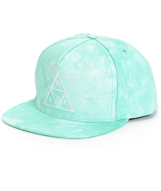 HUF Triangle Logo Tie Dye Snapback Hat