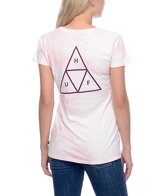 HUF Triple Triangle Crystal Smoke Pink T-Shirt