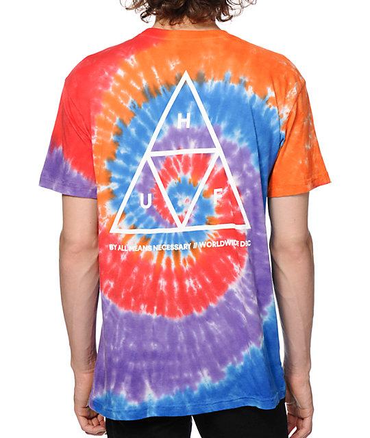 HUF Triple Triangle Tie Dye T-Shirt